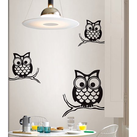 wallpops give a hoot wall art decals. Black Bedroom Furniture Sets. Home Design Ideas
