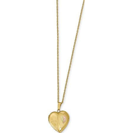 10k Yellow Gold -filled w/ 12k Accents Black Hills Locket