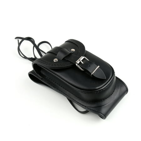 Areyourshop Black Leather 4.5 Gallons Tank Chap Cover Panel Bag For Harley Sportster XL883 Leather Tank Panel