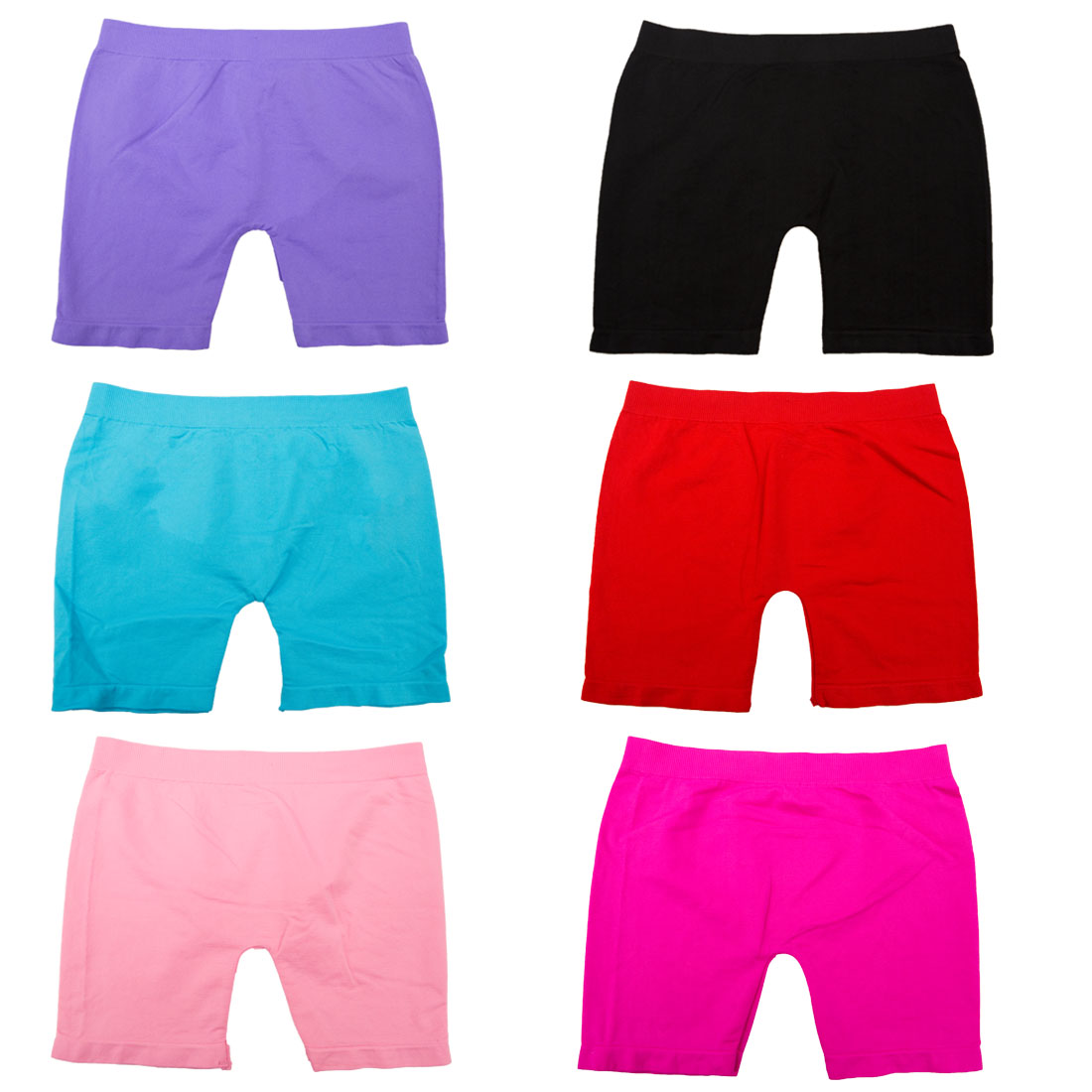 bc0ad52198ccc Angel - Girls Seamless Solid Color Short Leggings (6 Pack) Small -  Walmart.com