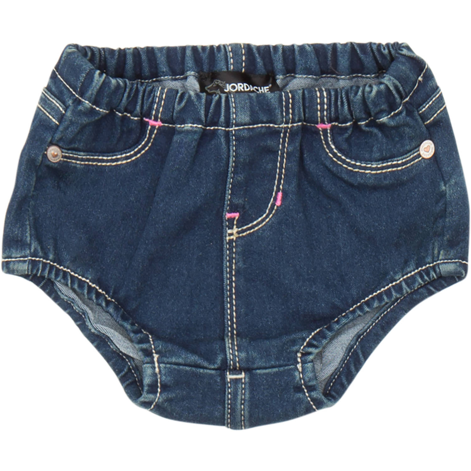 Jordache Newborn Baby Girl Denim Diaper Cover