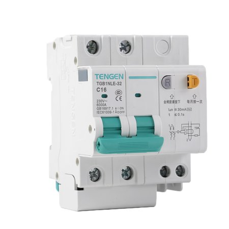 babydream1 230V 2P leakage protective breaker with Overcurrent Protection Over Short Current Leakage Protector - image 5 de 9