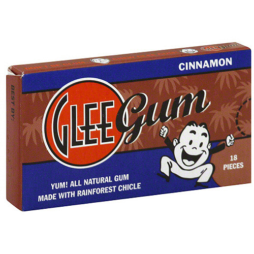 Glee Gum Cinnamon Flavored Chewing Gum, 18ct (Pack of 12)