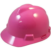 MSA V-Gard One Touch Suspensions Cap Style Hard Hats - Hot Pink