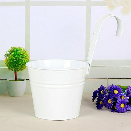 Mr Garden 6 Inch Flower Pots Balcony Hanging Planter Iron Bucket Holders