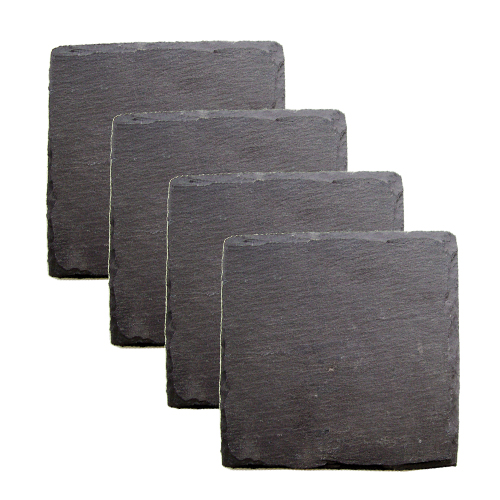 Country Home: Square Slate Coasters by Twine by True Brands