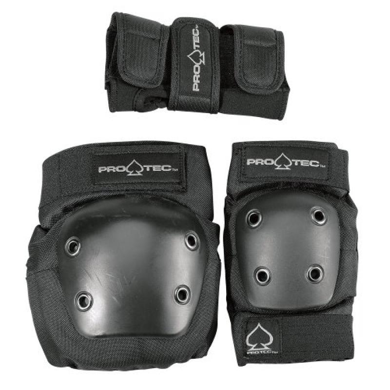Protec Jr. Knee Elbow Wrist Combo Pad (Black) by PROTEC Original
