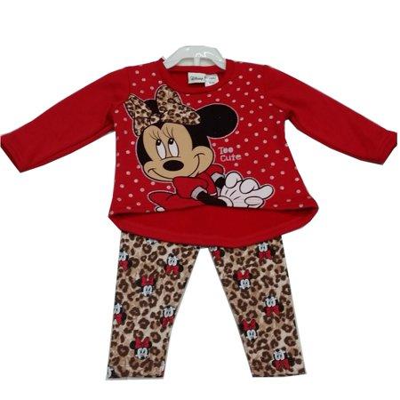493c37fbf Disney - Baby Girls Red Minnie Mouse Leopard Spot Print 2 Pc Pant ...