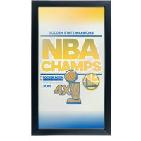Golden State Warriors Framed Logo Mirror, 2015 NBA Champs