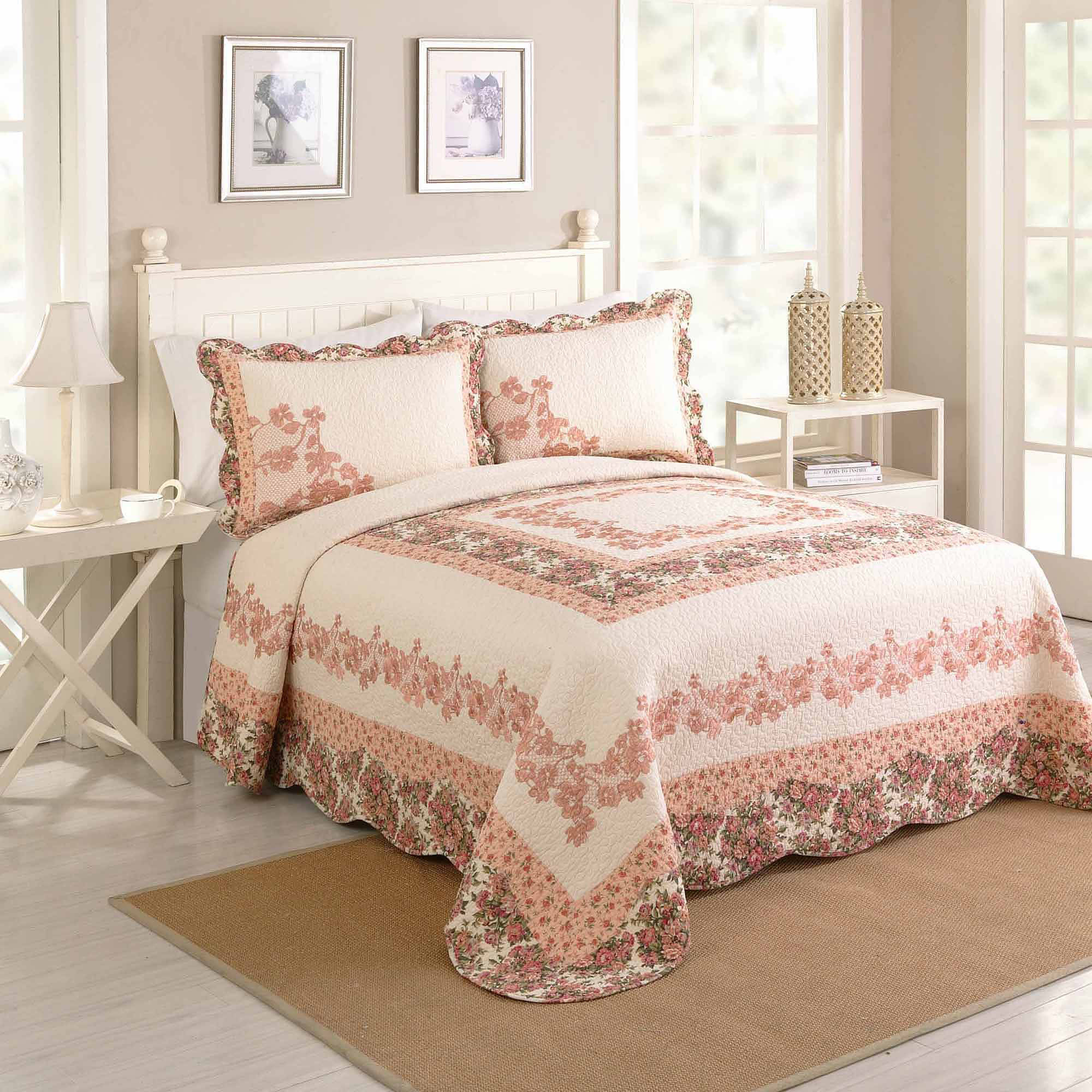 Better Homes and Gardens Shyla Bedspread, Peach