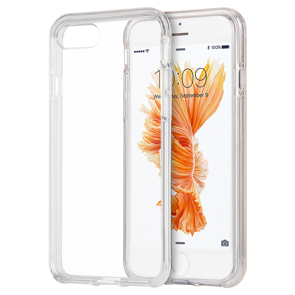 iPhone 8 Plus/iPhone 7 Plus Invisible Bumper Hybird Case Ultra Thin Agua Clear + Clear Inner Frame