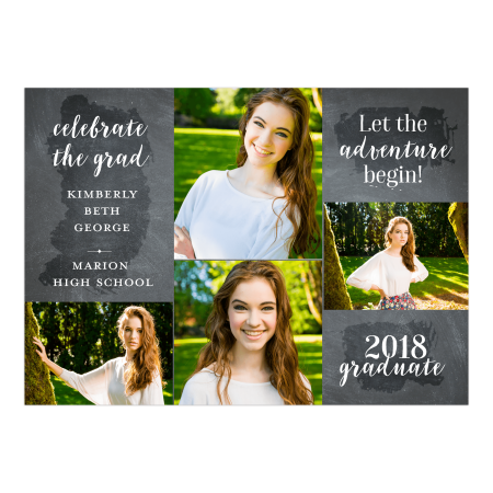 Blowout Invitation (Personalized Graduation Invitation - Adventure - 5 x 7 Flat)