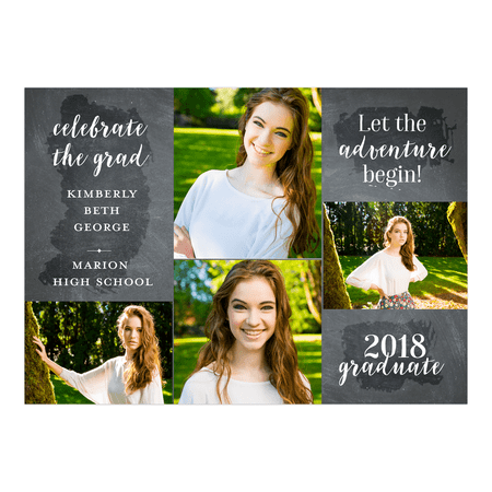 Personalized Graduation Invitation - Adventure - 5 x 7 - Custom Made Invitations