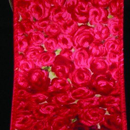 Red Roses Print Cotton Wired Craft Ribbon 2 X 40 Yards Walmart Com