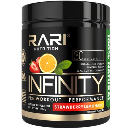 Infinity All Natural Preworkout Powder - Strawberry Lemonade - 30