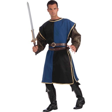 Medieval Single - Blue and Black Medieval Tabard Adult Halloween Costume