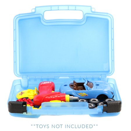 Box Race (Liberty Imports World Racing Car with 30 Take Apart Pieces & Tool Drill, Lights Carrying Case- Stores Dozens Of Take-A-Part Toys - Durable Toy Storage Organizers By Life Made Better- Blue)