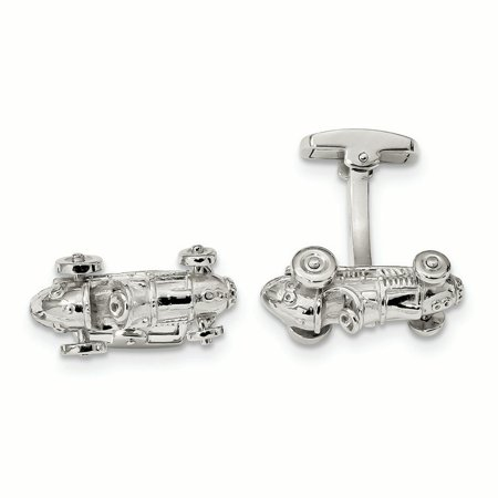 Sterling Silver Classic Race Car with Moveable Wheels Cuff