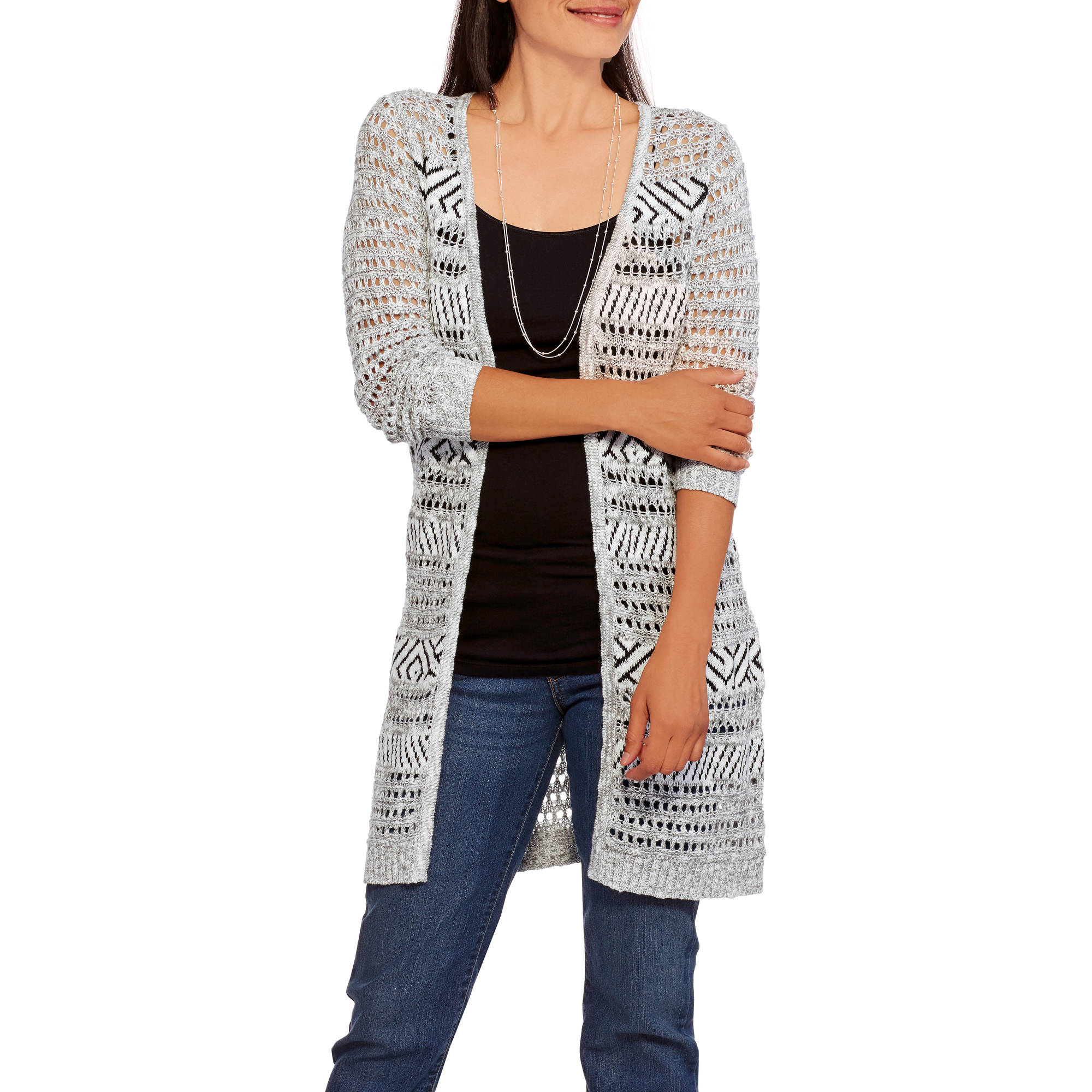 Faded Glory Women's Midi Cardigan