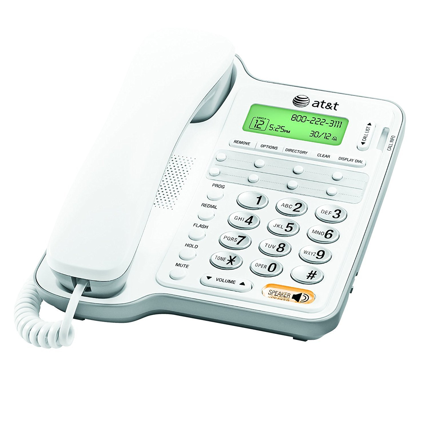 Landline Phone, Att Cl2909 Corded Home Office Desk Landline Phone Speaker