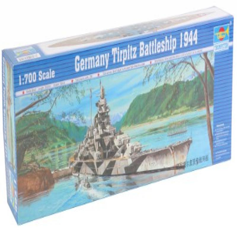 Trumpeter 1/700 German Tirpitz Battleship 1943 Model Kit