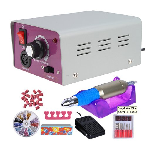 Nails Care Pedicure Electric Nail Drill File Machine Kit
