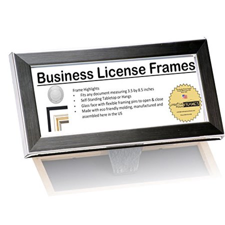 Executive Collection Business License Frame Stainless Steel