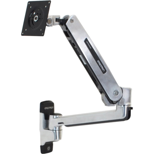 """Ergotron Mounting Arm for Flat Panel Display - 42"""" Screen Support - 25 lb Load Capacity - Polished Aluminum"""