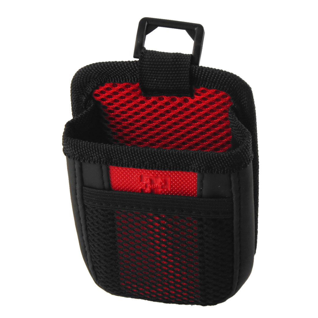 Unique Bargains Vehicle Car Mesh Cell Phone MP3 MP4 Pouch Holder Black Red