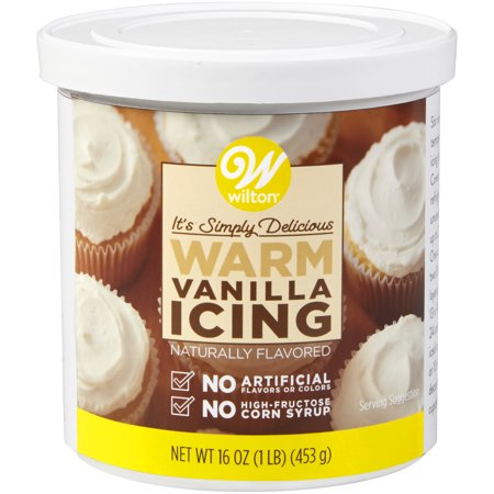 Orange Flavored Icing - Wilton Naturally Flavored Warm Vanilla Icing, 16 oz.