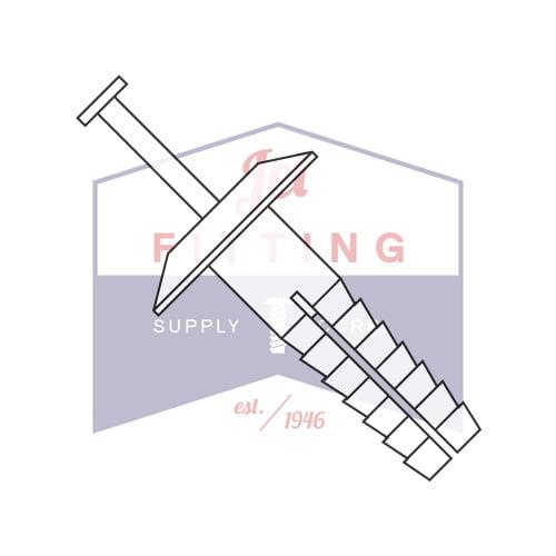 "1/4"" x 1 1/2"" Plastic Drive-Pin Anchor Rivets | All Nylon 2 Piece | Truss Head | Body: Nylon 6/6 Impact Modified | Pin: Nylon 6/6 Impact Modified - WHITE (Quantity: 1000)"