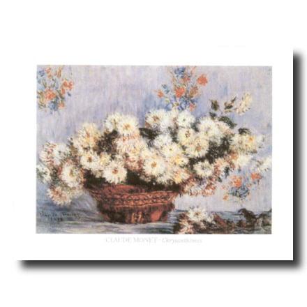 Monet Chrysanthemum Flower Wall Picture Art Print Chrysanthemum Flower Pictures