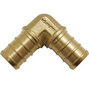Conbraco APXE3450PK Tube Elbow, 3/4 in, Pex, 80 psi, Brass, 33 - 180 deg F per PK 50