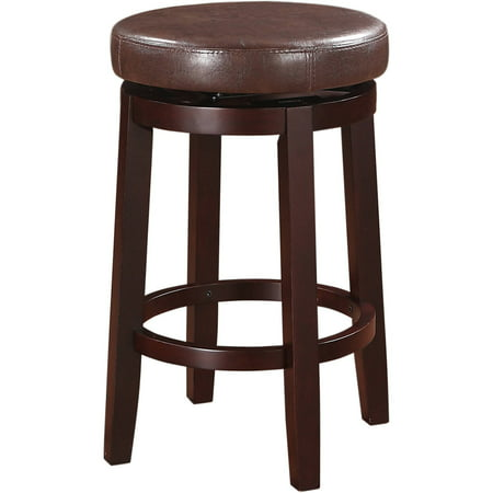Vinyl Cushion Seat Bar Stool (Linon Maya Counter Stool, Multiple Colors, 24 inch Seat Height)