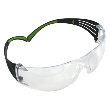 3M Peltor SF400PC8 Sport SecureFit 400 Shooting/Sporting Glasses Black/Green Frame Clear Polycarbonate Lens 1 Pair - Liberty Sport Glasses