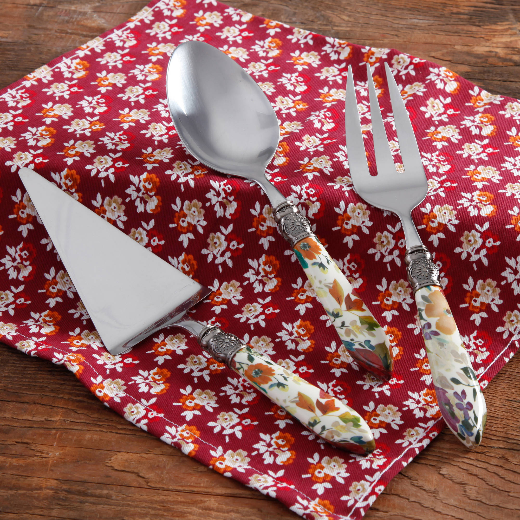 The Pioneer Woman Timeless Floral Hostess Set, 3-Piece