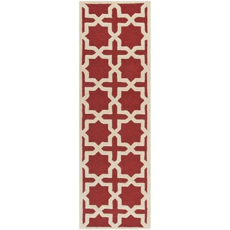 Safavieh Cambridge 4' X 6' Hand Tufted Wool Rug in Rust and Ivory - image 8 de 8