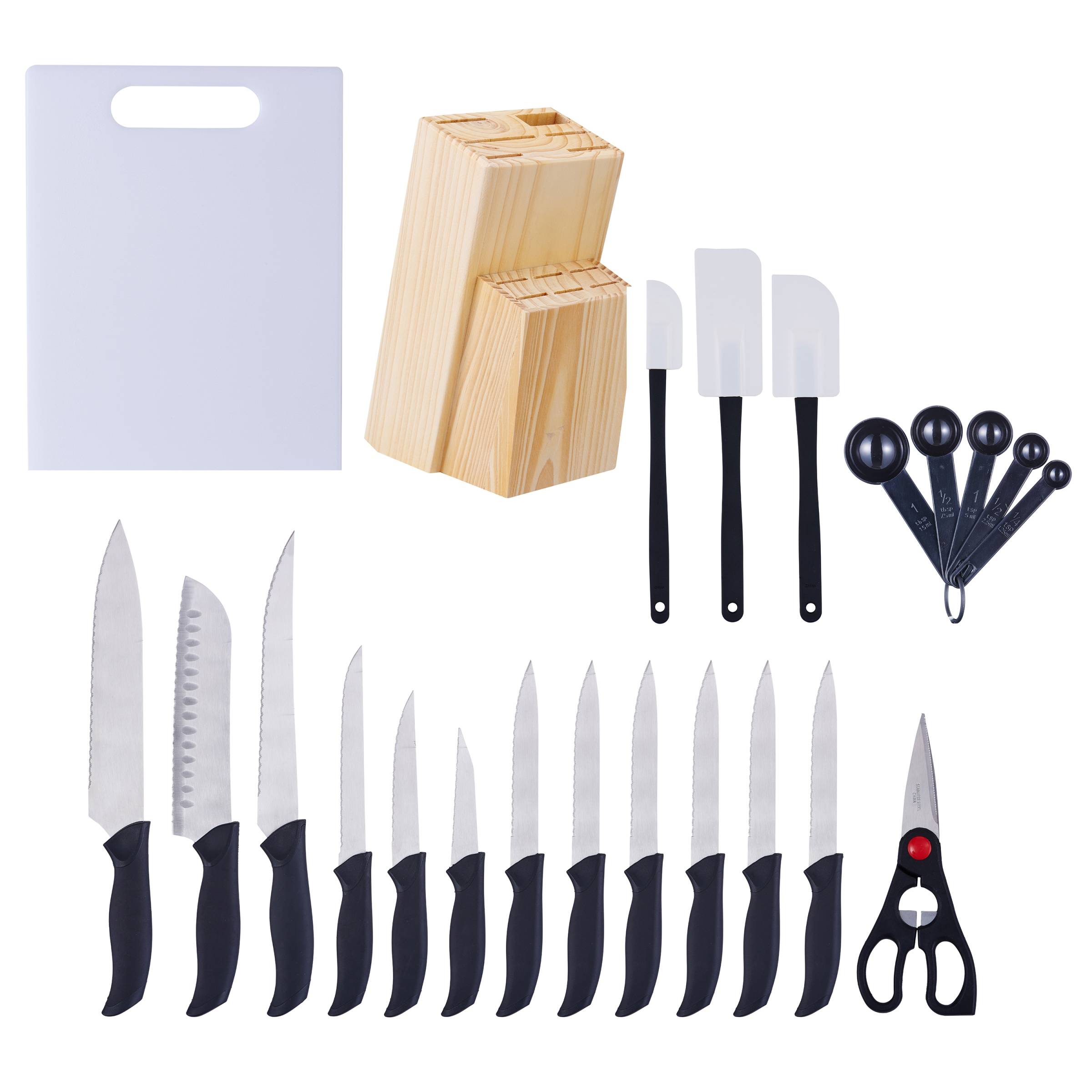 Mainstays Kitchen 23 Piece Cutlery & Gadget Set