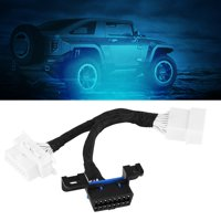 Yosoo 16Pin OBD2 Extension Cable OBD2 Splitter Adapter Male to Dual Female Splitter Adapter Extension Cable Y Cable