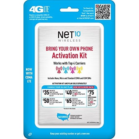 Net10 Bring Your Own Phone SIM Activation Kit - Retail