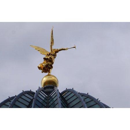 Canvas Print Academy Art Golden Saxony Dresden Angel Trumpet Stretched Canvas 10 x 14