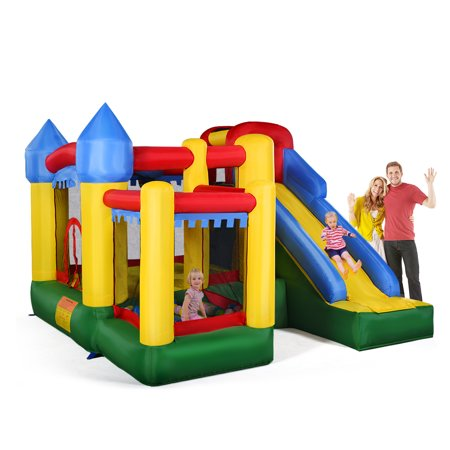 Costway Mighty Inflatable Bounce House Castle Jumper Moonwalk Bouncer Without Blower for $<!---->