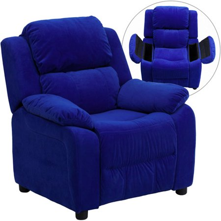 flash furniture kids 39 microfiber recliner with storage arms multiple