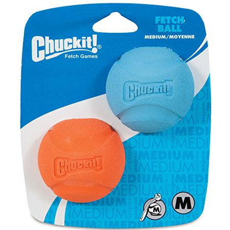 Chuckit Player - Chuckit! Fetch Dog Ball High-Bounce Rubber Assorted Colors 2-Pack Medium