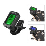 General Digital Tone Tuner LCD Screen Mini Clip-on Tuner for Bass Guitar Chromatic Violin Ukulele String Instruments Accessories
