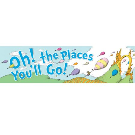 Eureka Classroom Dr Seuss Oh The Places Balloons Poster - Oh The Places You Ll Go Party