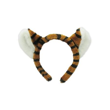 Plush Tiger Ears Headband Adult Child Animal Headpiece Costume Accessory - Children Animal Costume