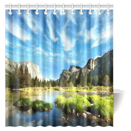 POP Landscape Shower Curtain, Mountain and Convict Lake with Reflections in Yosemite Countryside Scene Bathroom Shower Curtain 66x72 inch - image 3 of 3