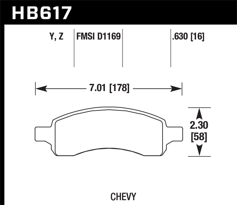Hawk Performance HB529Y.710 LTS Brake Pad