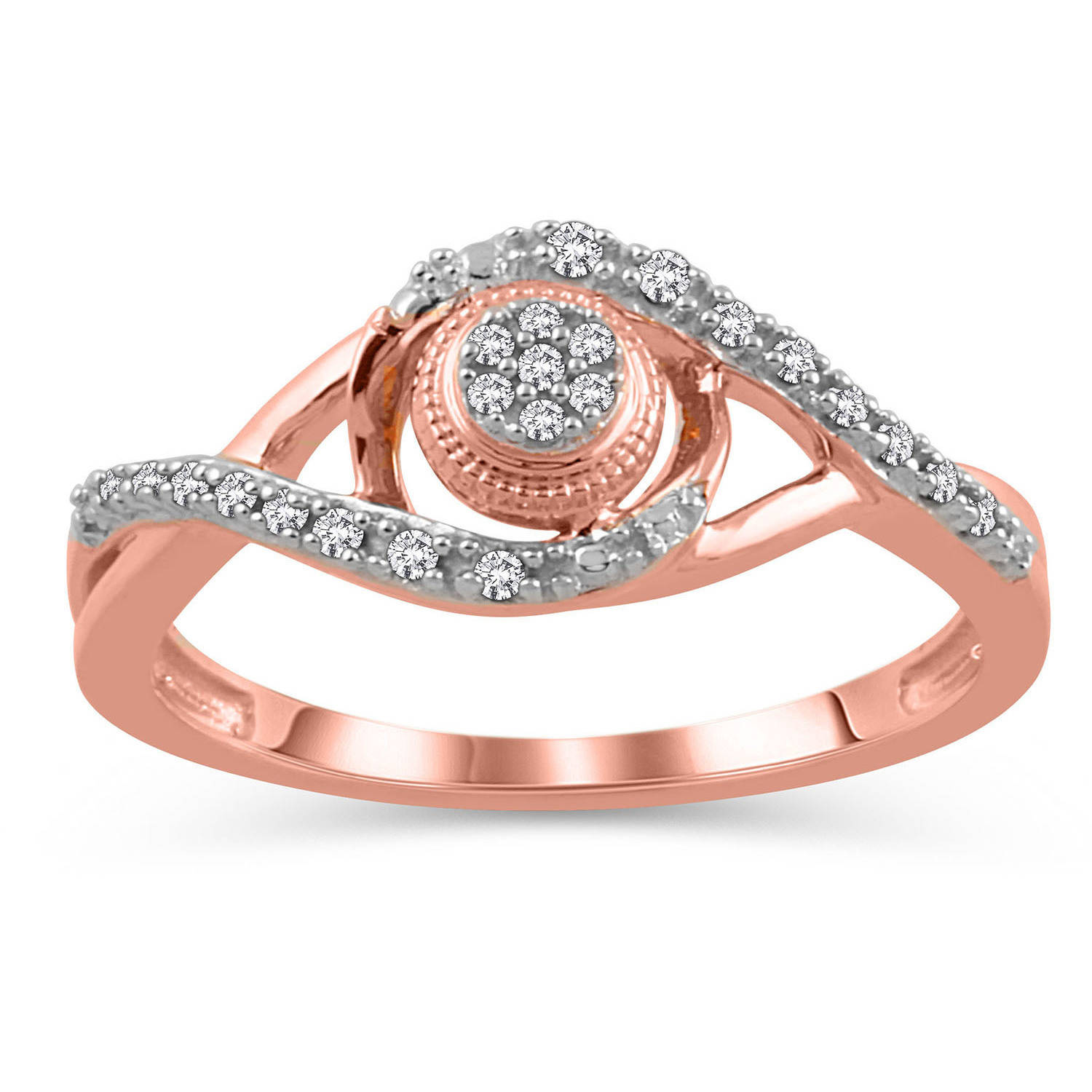 1 10 Carat T.W. Diamond 10kt Pink Gold Promise Ring by ELEGANT COLLECTION